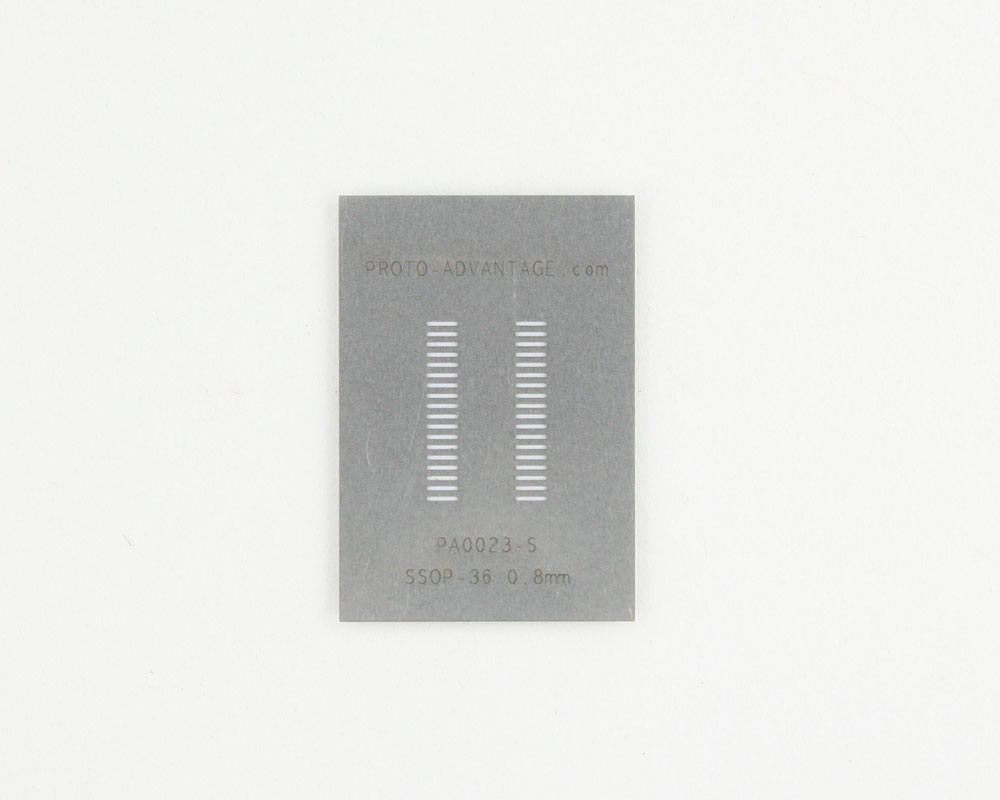 SSOP-36 (0.8 mm pitch) Stainless Steel Stencil