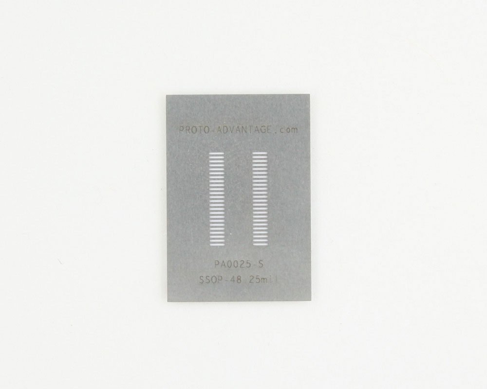 SSOP-48 (0.635 mm pitch) Stainless Steel Stencil