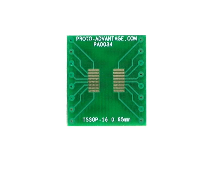 TSSOP-16 to DIP-16 SMT Adapter (0.65 mm pitch)