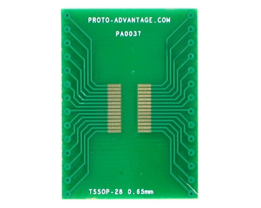 TSSOP-28 to DIP-28 SMT Adapter (0.65 mm pitch)