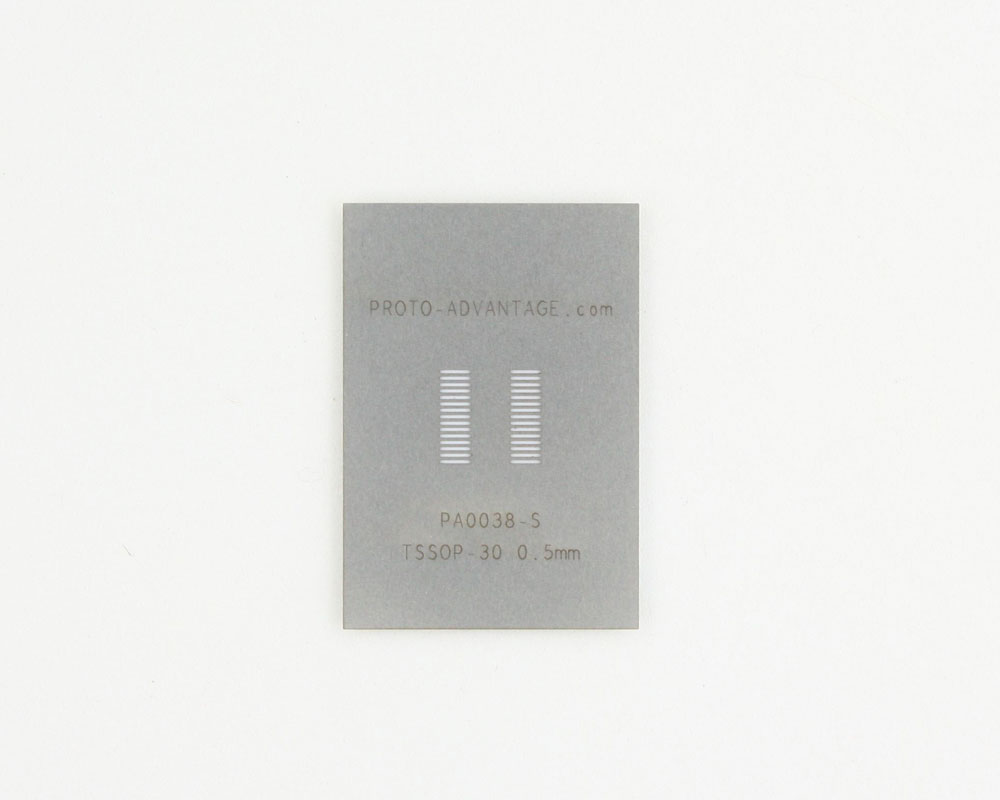 TSSOP-30 (0.5 mm pitch) Stainless Steel Stencil