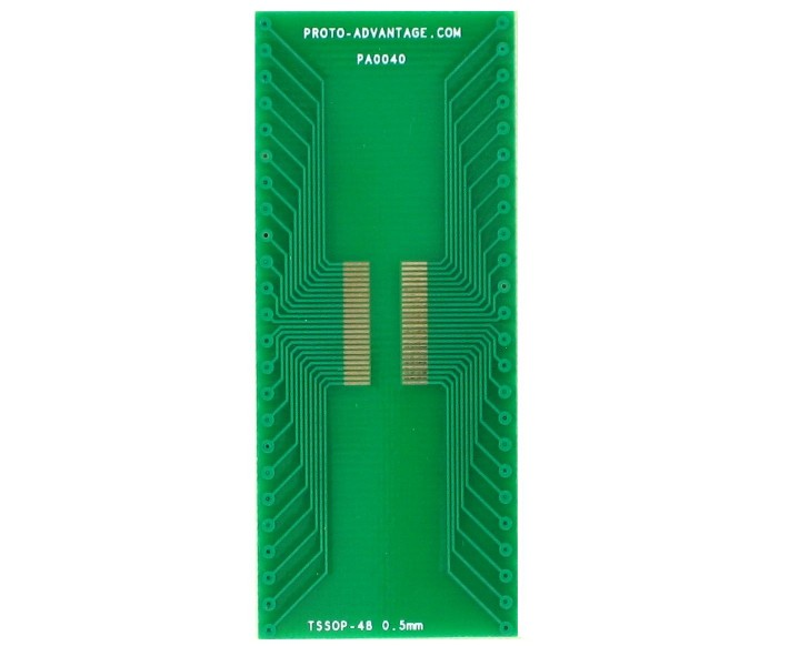 TSSOP-48 to DIP-48 SMT Adapter (0.5 mm pitch)