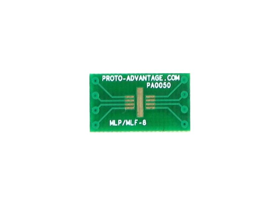 MLP/MLF-8 to DIP-8 SMT Adapter (0.65 mm pitch, 3 x 3 mm body)