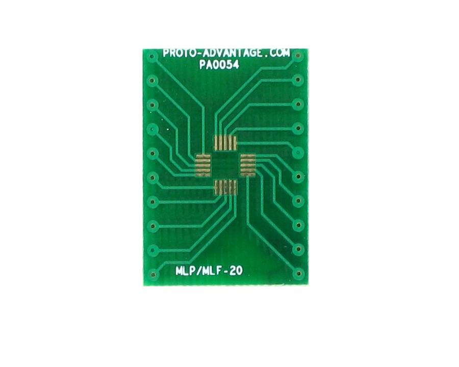 MLP/MLF-20 to DIP-20 SMT Adapter (0.5 mm pitch, 4 x 4 mm body)