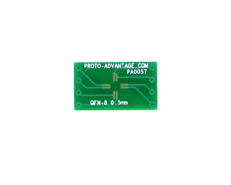 QFN-8 to DIP-8 SMT Adapter (0.5 mm pitch, 3 x 3 mm body)