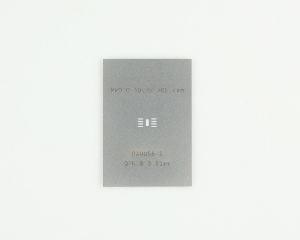 QFN-8 (0.65 mm pitch, 3 x 3 mm body) Stainless Steel Stencil