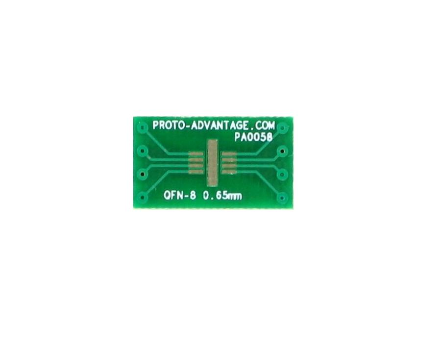 QFN-8 to DIP-8 SMT Adapter (0.65 mm pitch, 3 x 3 mm body)