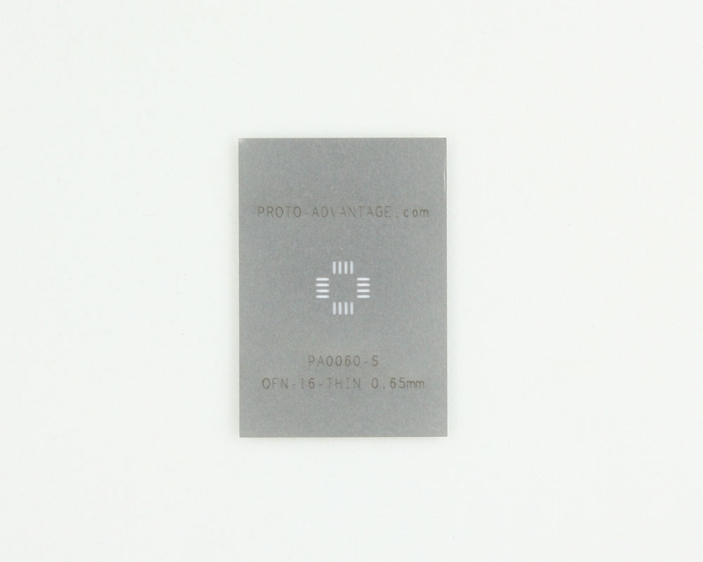 QFN-16-THIN (0.65 mm pitch, 4 x 4 mm body) Steel Stencil