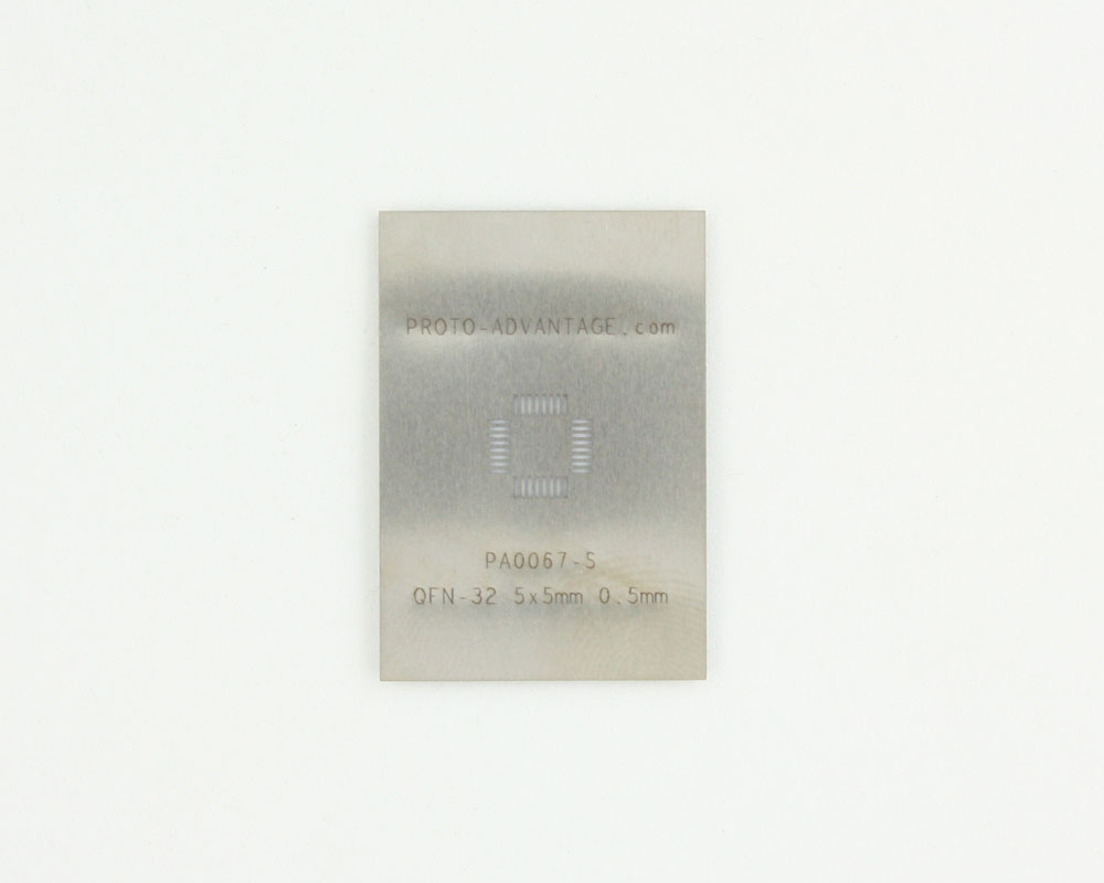 QFN-32 (0.5 mm pitch, 5 x 5 mm body) Stainless Steel Stencil