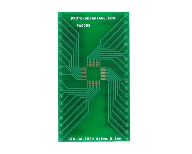 QFN-36-THIN to DIP-36 SMT Adapter (0.5 mm pitch, 6 x 6 mm body)