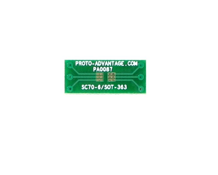 SOT-363 to DIP-6 SMT Adapter (0.65 mm pitch)