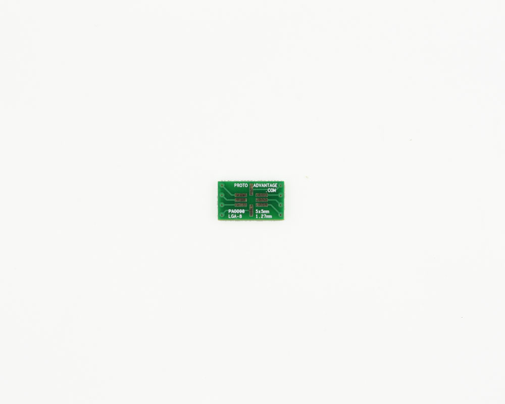 LGA-8 to DIP-8 SMT Adapter (1.27 mm pitch, 5 x 5 mm body)