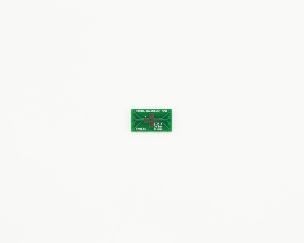LLP-8 to DIP-8 SMT Adapter (0.5 mm pitch, 3 x 3 mm body)