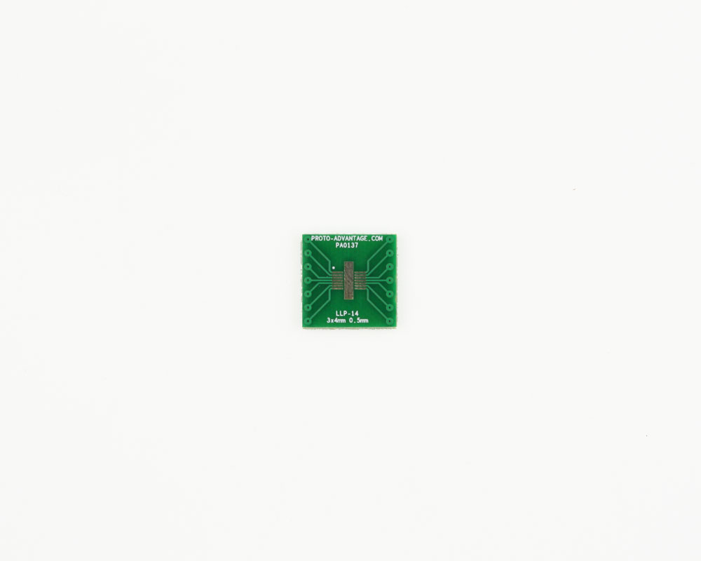 LLP-14 to DIP-14 SMT Adapter (0.5 mm pitch, 3 x 4 mm body)