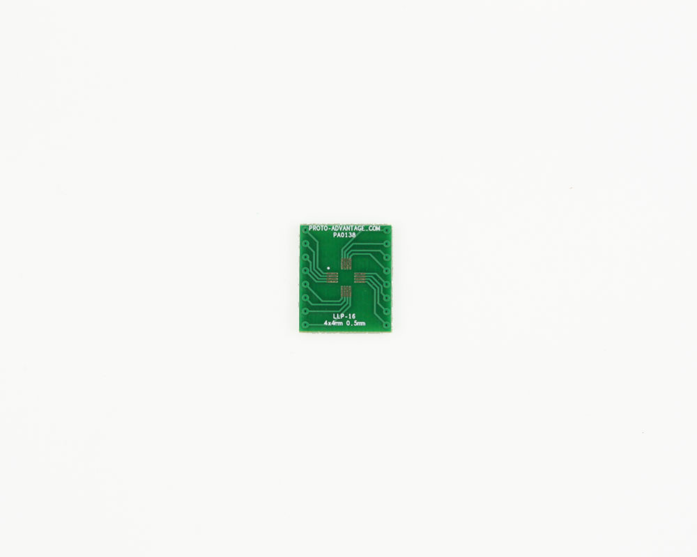 LLP-16 to DIP-16 SMT Adapter (0.5 mm pitch, 4 x 4 mm body)