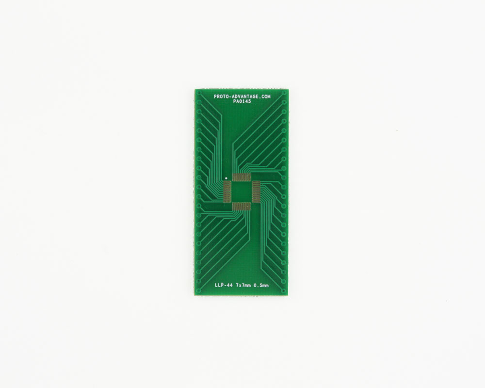 LLP-44 to DIP-44 SMT Adapter (0.5 mm pitch, 7 x 7 mm body)