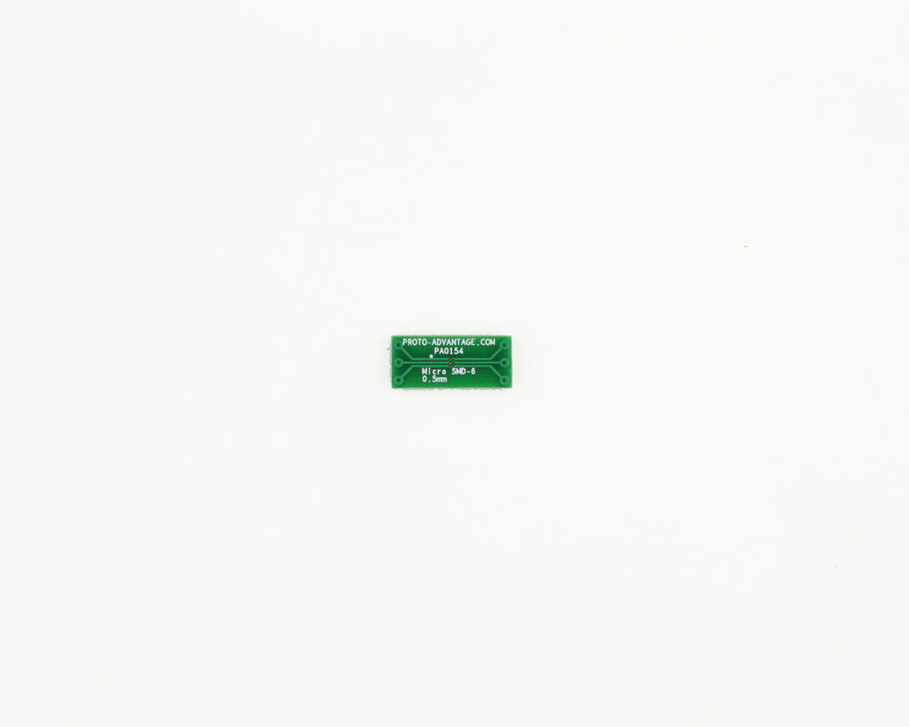 Micro SMD-6 to DIP-6 SMT Adapter (0.5 mm pitch)