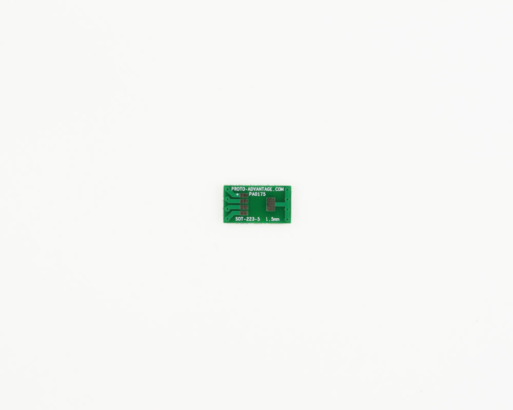 SOT-223-5 to DIP-6 SMT Adapter (1.5 mm pitch)