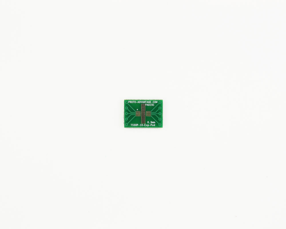 TSSOP-10-Exp-Pad to DIP-10 SMT Adapter (0.5 mm pitch)