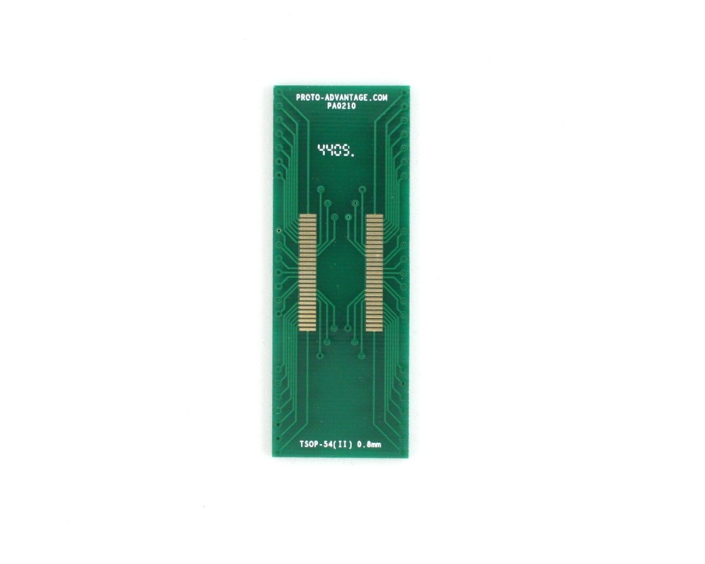 TSOP-54 (II) to DIP-54 SMT Adapter (0.8 mm pitch, 10.16 mm body)