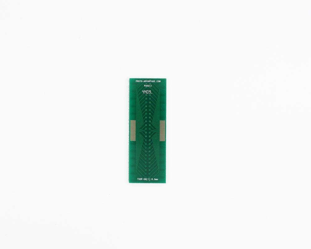 TSOP-56 (I) to DIP-56 SMT Adapter (0.5 mm pitch, 16-22 mm body)
