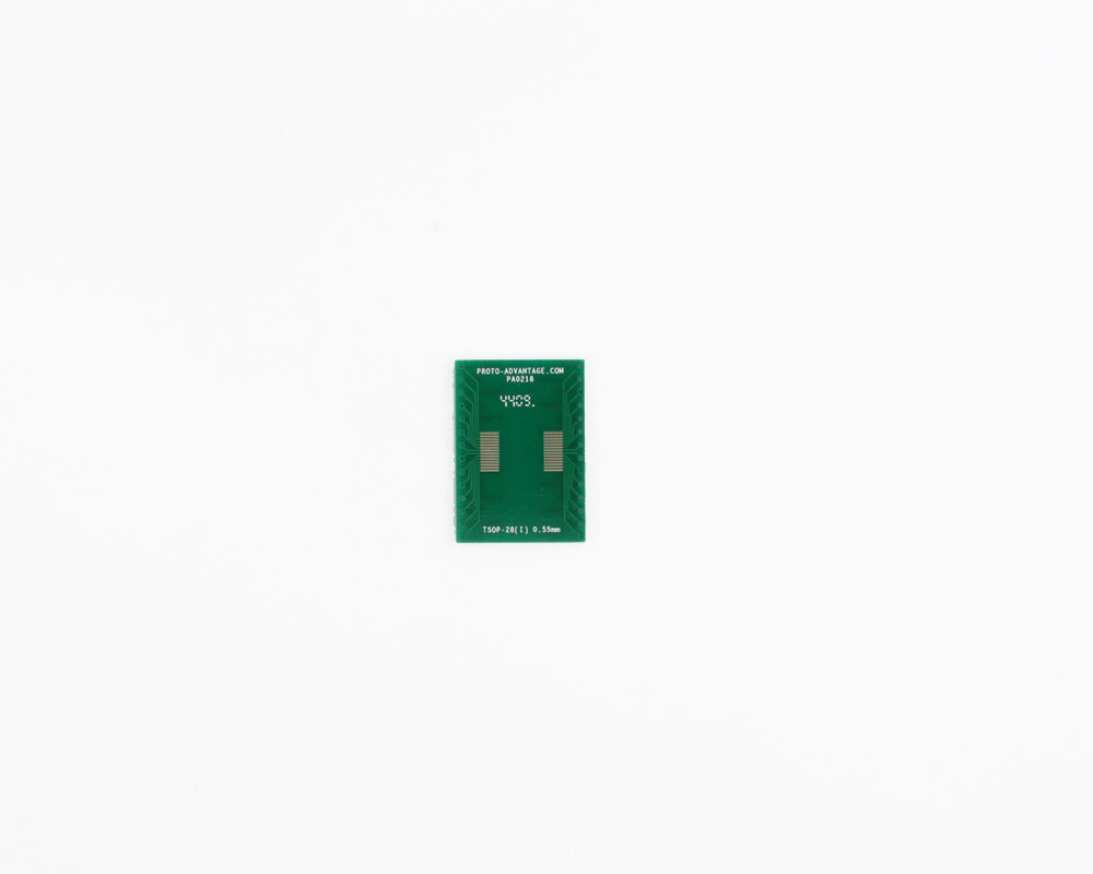 TSOP-28 (I) to DIP-28 SMT Adapter (0.55 mm pitch, 10.16 mm body)