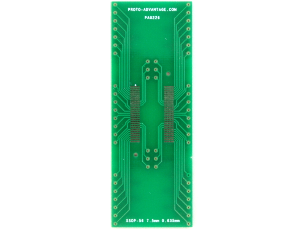 SSOP-56 to DIP-56 SMT Adapter (0.635 mm pitch, 7.5 mm body)