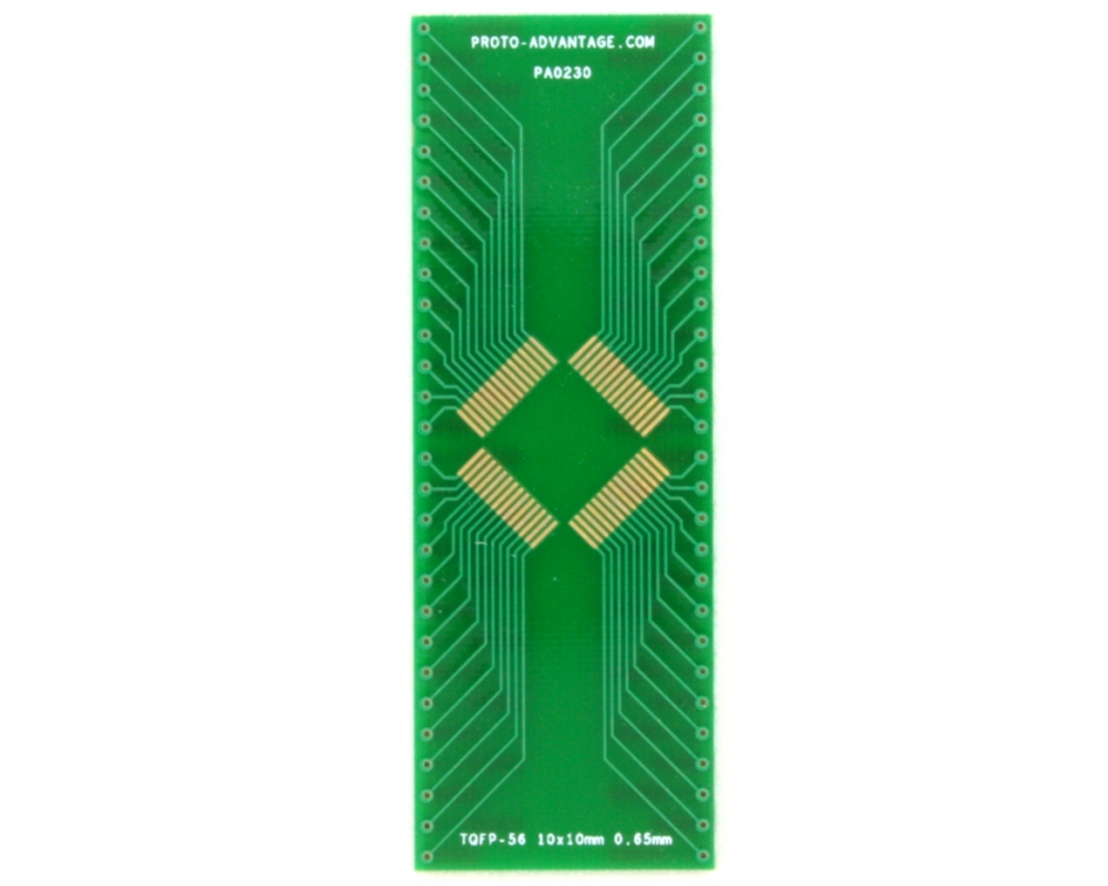 TQFP-56 to DIP-56 SMT Adapter (0.65 mm pitch, 10 x 10 mm body)