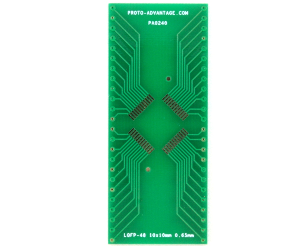 LQFP-48 to DIP-48 SMT Adapter (0.65 mm pitch, 10 x 10 mm body)