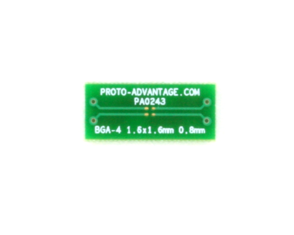 BGA-4 to DIP-4 SMT Adapter (0.8 mm pitch, 1.6 x 1.6 mm body)